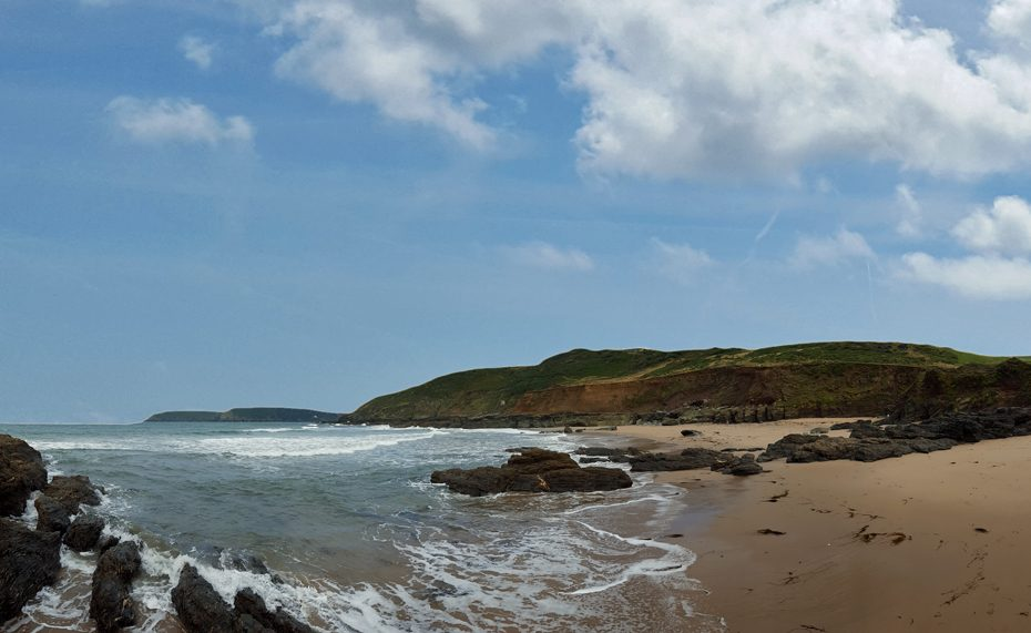 Gara Rock Beach is the destination for this walk from East Portlemouth