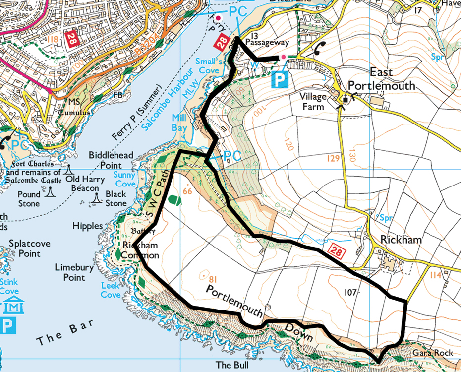 East Portlemouth to Gara Rock walk