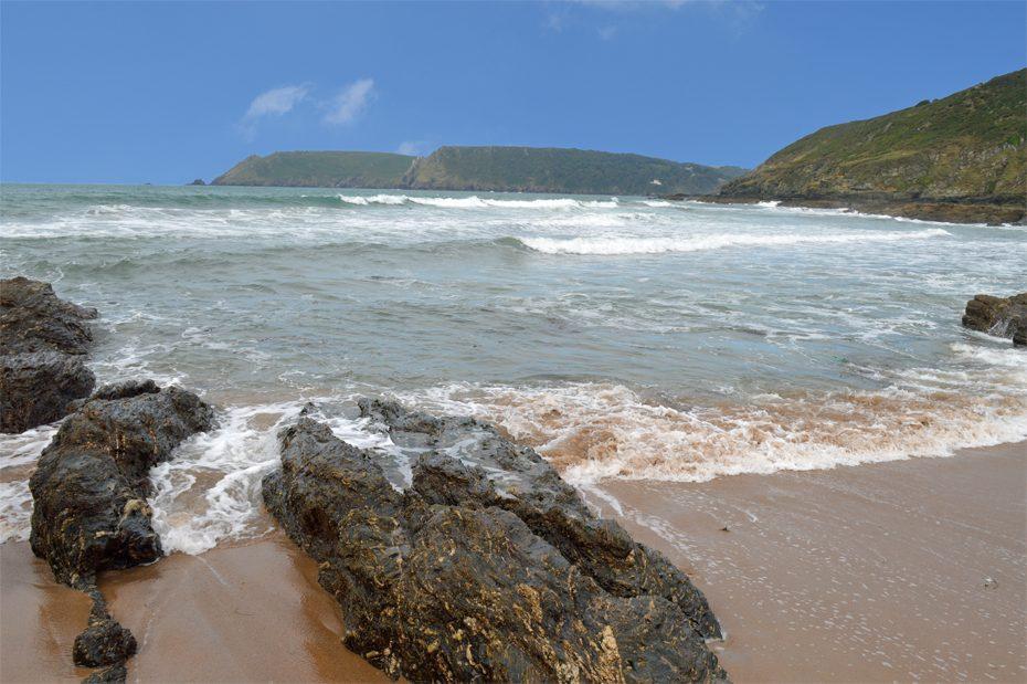 The beach below Gara Rock
