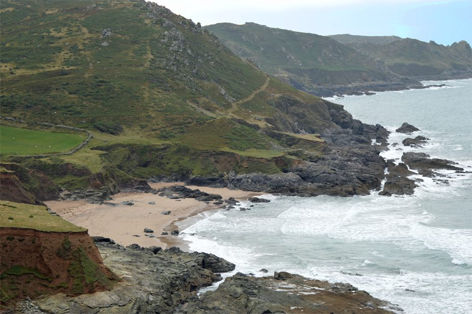Gara Rock Beach from the South West Coast Path