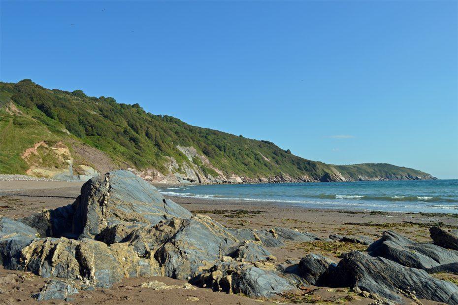 Rocks on the beach at Man Sands (South Devon)