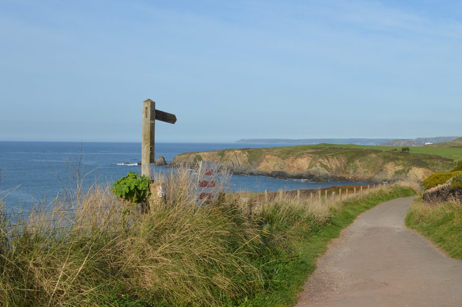 The South West Coast Path, leading up from Thurlestone Sands
