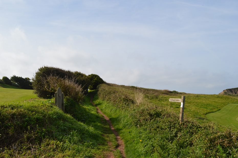 The footpath leading to the South West Coast Path at Thurlestone