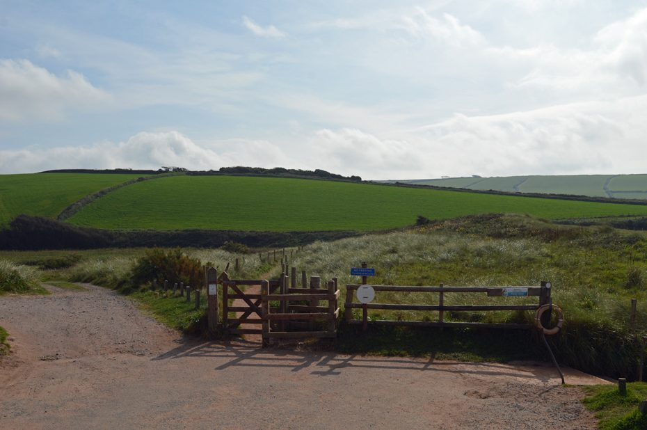 A footpath through South Milton Ley