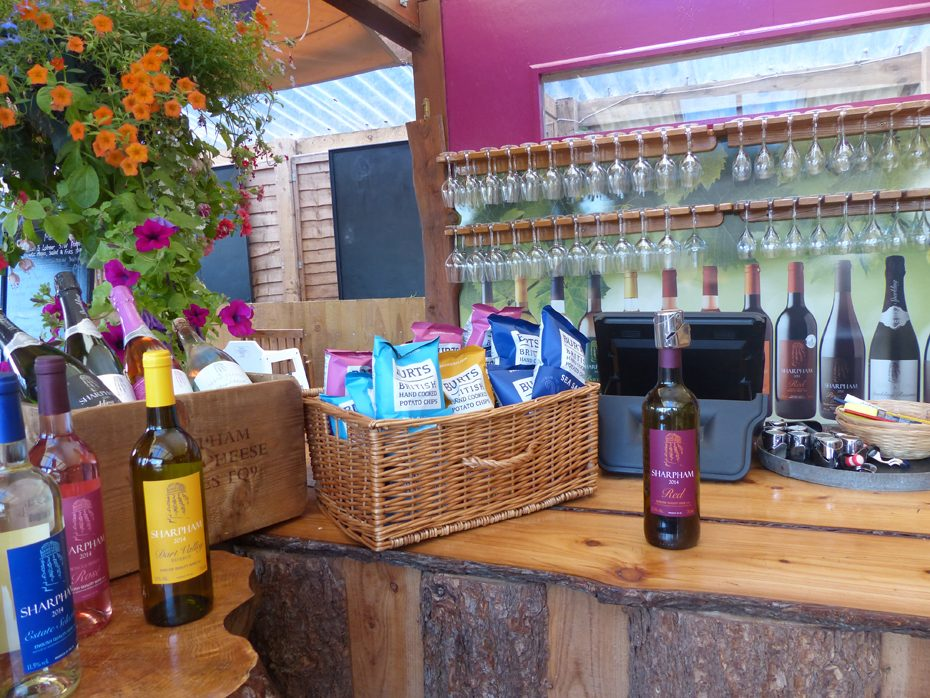Pick up some gifts from Sharpham Vineyard
