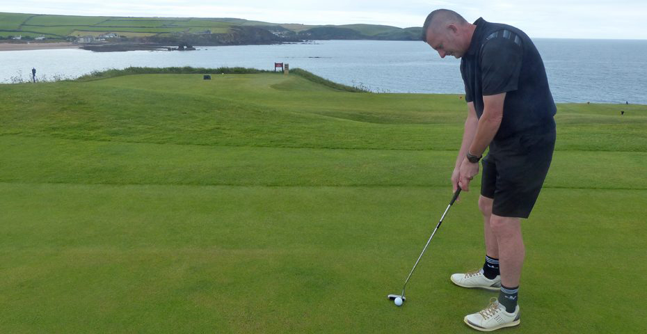golf courses in South Devon - Jon playing golf at Thurlestone
