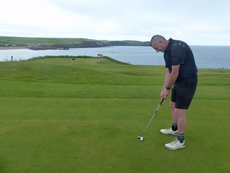 Jon Doyle, Operations Director at Coast & Country Cottages, plays golf at Thurlestone Golf Club