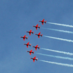The Red Arrows above Dartmouth