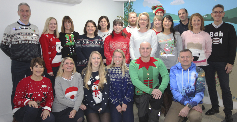 The Salcombe Coast & Country Cottages team looking festive, wishing everyone a Merry Christmas