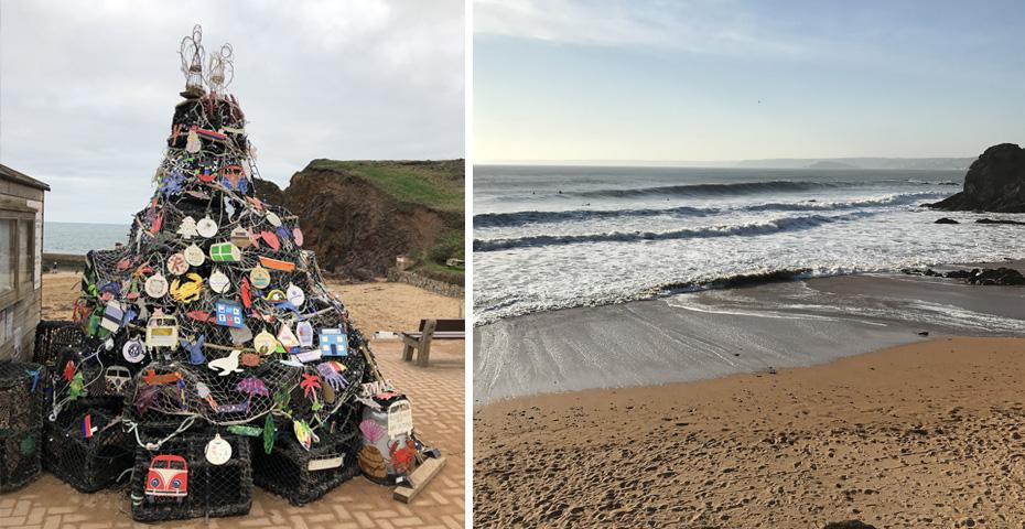 Christmas Day swim in South Devon - Hope Cove beaches