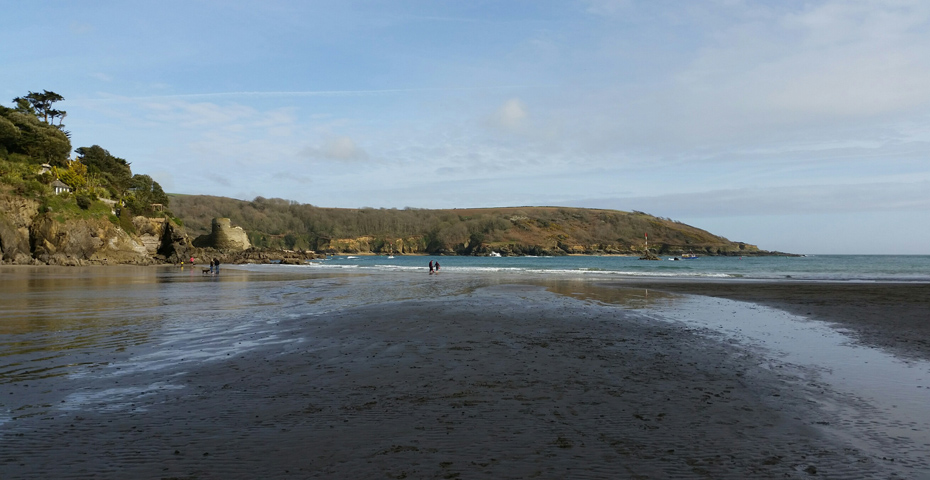 Christmas Day swim in South Devon - North Sands