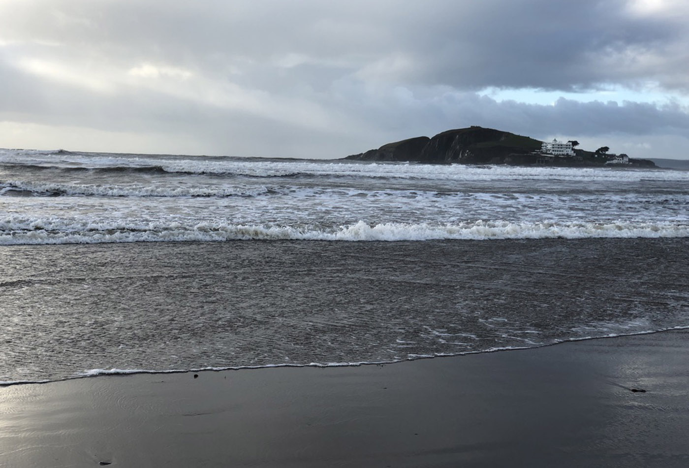 Christmas Day swim in South Devon at Bantham Beach