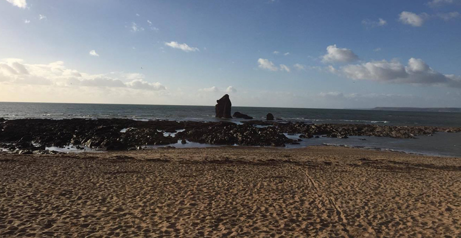 Thurlestone Beah and South Milton Sands - Christmas Day swim in South Devon