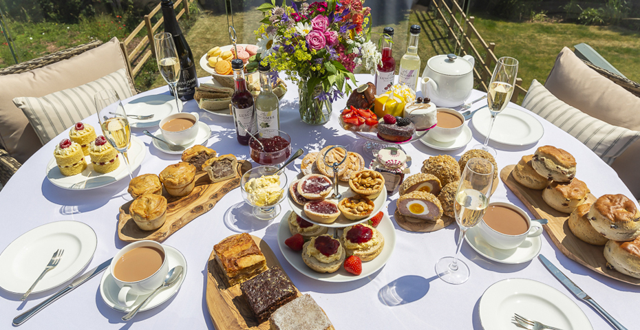 the best afternoon tea in south Devon - afternoon tea in your holiday home