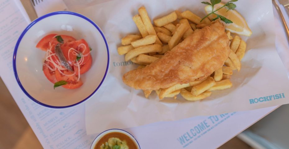 Fish and chips at Rockfish: restaurants in Dartmouth