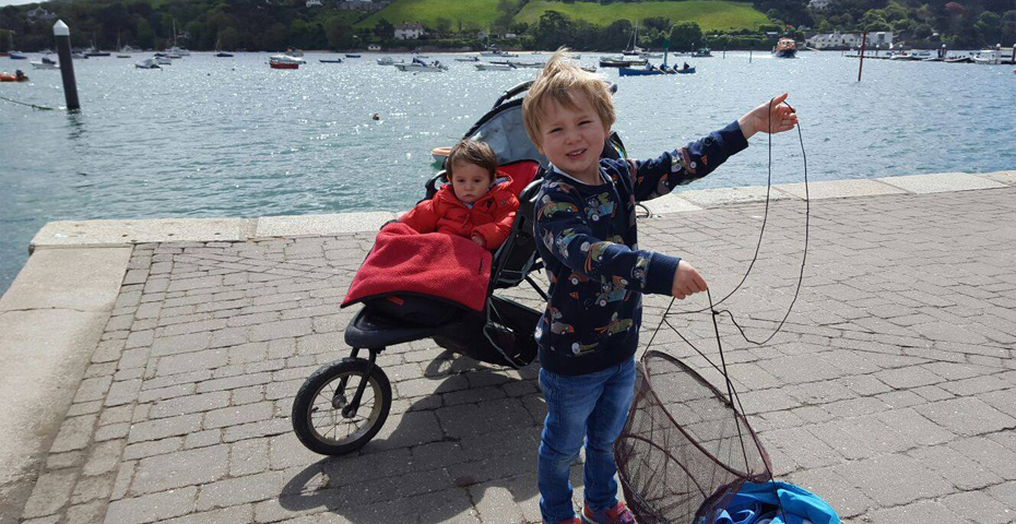 buying a holiday home in Salcombe - crabbing