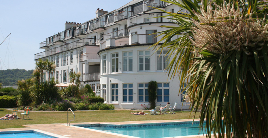 buying a holiday home in Salcombe - pool
