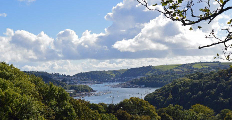 Dartmouth to Dittisham walk - view of river dart