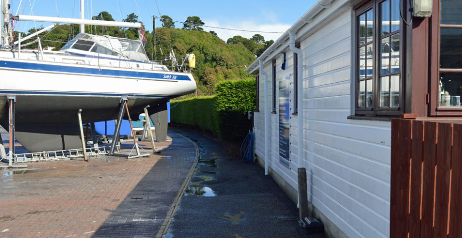 Dartmouth to Dittisham walk - Boatyard