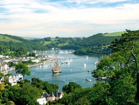 Dartmouth to Dittisham walk - Dartmouth and River Dart view