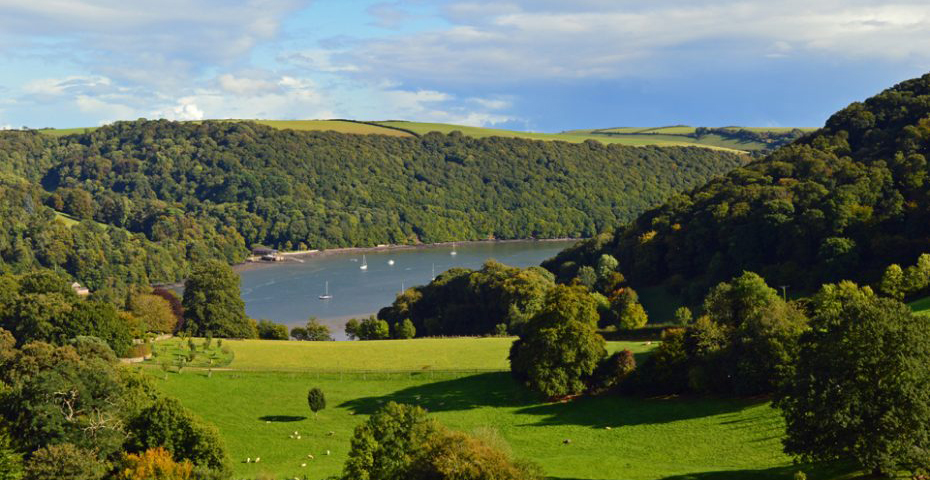 Dartmouth to Dittisham walks - view above Dittisham