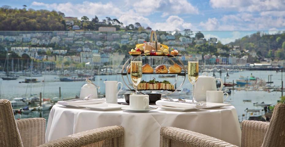Afternoon tea at Dart Maria, Dartmouth, Devon