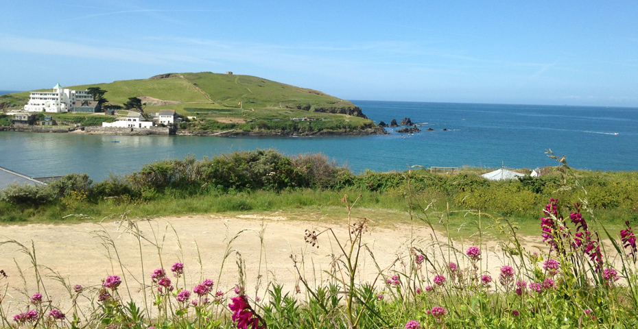 Bigbury car park looking over Burgh Island