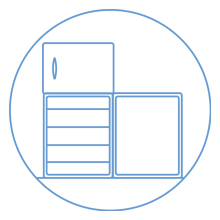 cleaning, housekeeping and laundry: check fridges and freezers