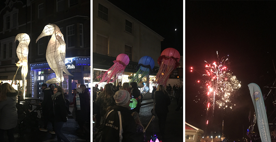 Christmas markets in South Devon - Brixham's Lanterns Lights and 'luminations event