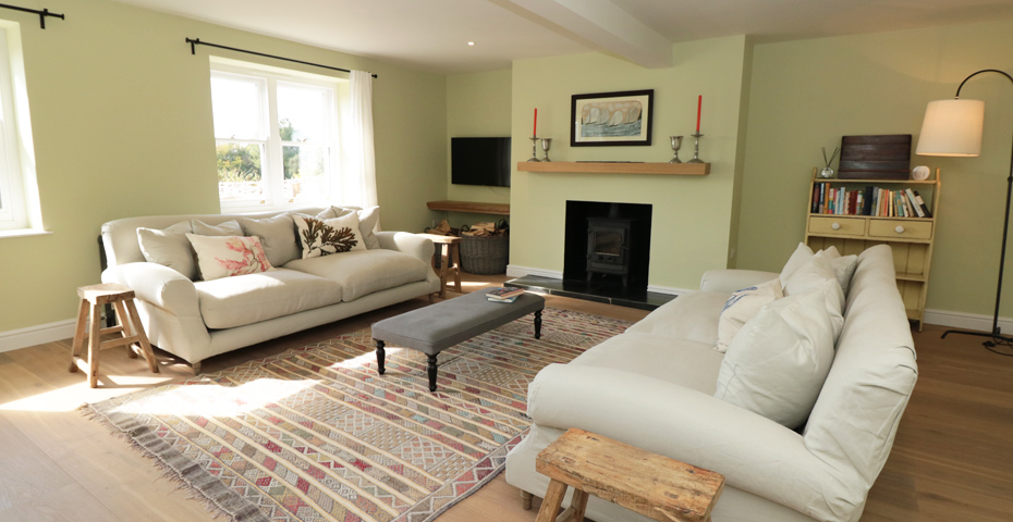 Willow Cottage holiday home - cosy after a Christmas Day lunch in South Devon