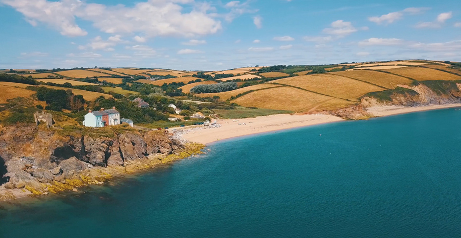 Hallsands drone