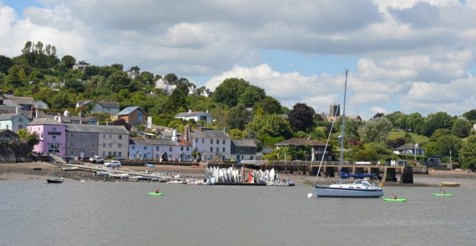 Dittisham from across the water at Greenway copy