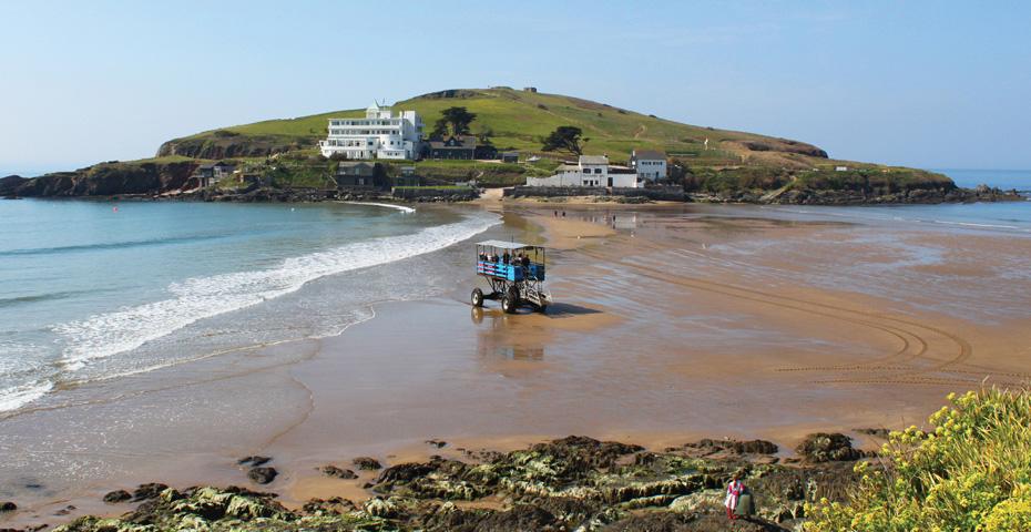 Burgh Island Bigbury-on-Sea sea tractor