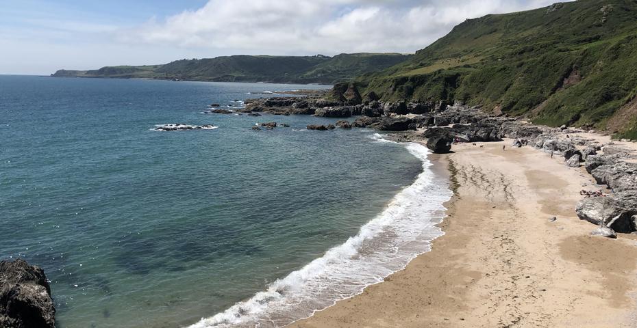 Mattiscombe Beach near Start Point - secret Devon beaches