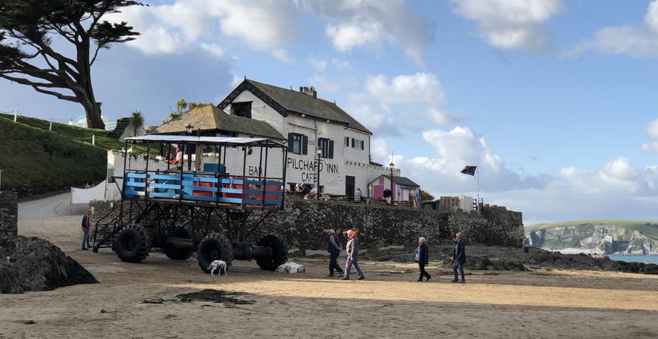 The Pilchard Inn at Burgh Island near Bigbury-on-Sea