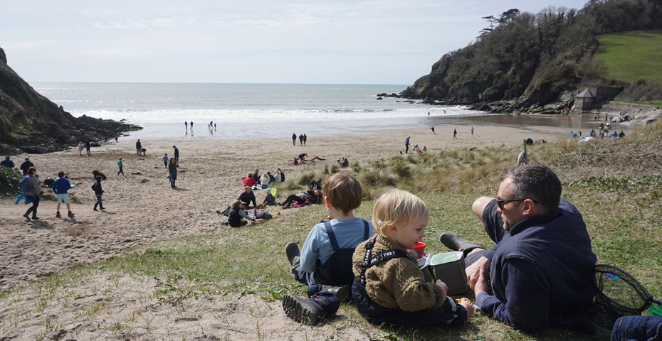 The Trouble with Maggie Cole filming locations - Mothecombe Beach copy
