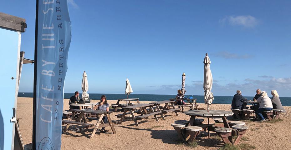 Strete Gate Beach and cafe near Slapton Sands