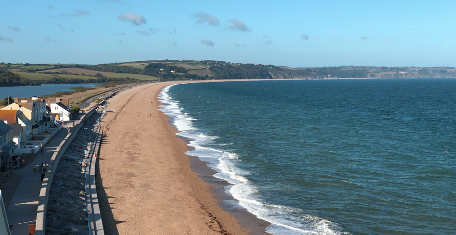 View of Slapton Sands and Slapton Ley