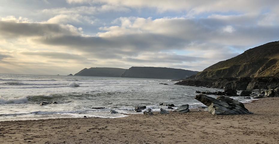 Gara Rock Beach secret Devon beaches