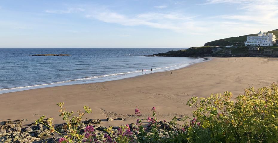 Bigbury Beach near Modbury, overlooking Burgh Island