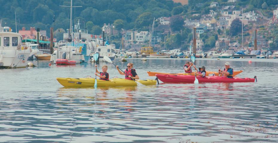 River Dart kayaking in South Devon