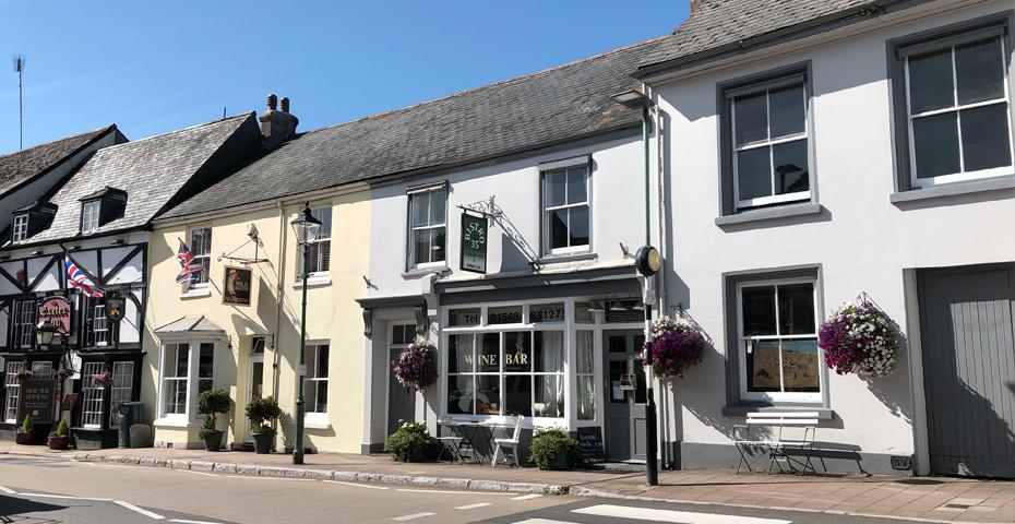 Wine Bar and Modbury high street