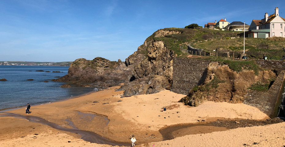 Hope Cove beaches - Mouthwell Sands stream is perfect for dam making