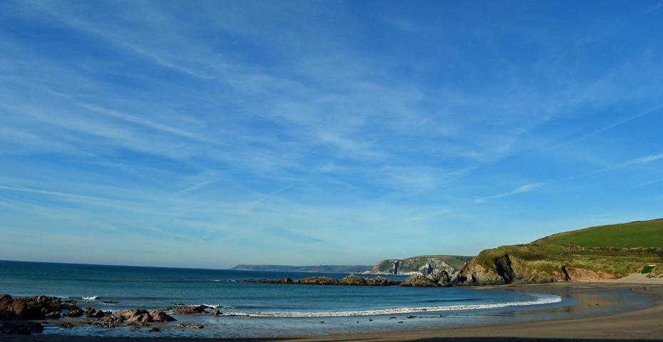 Surfing in South Devon at Challaborough