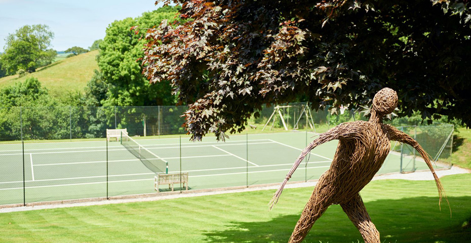 Gitcombe Estate tennis court