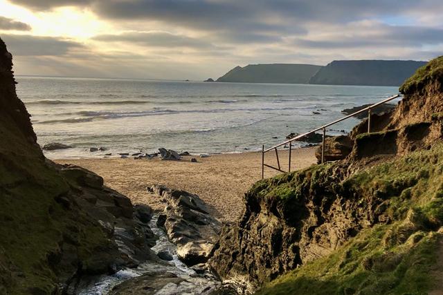 Christmas things to do in Devon - Gara Rock beach