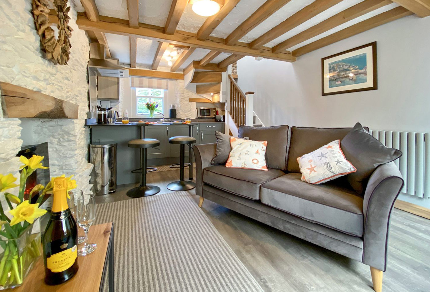 Pilchard Cottage living space - Meet the owners Pilchard Cottage Brixham